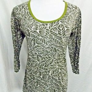 Erge Designs 3/4 Top Leaf Print